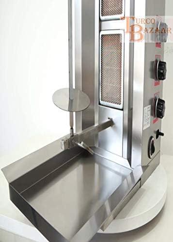 turcobazaar V V Natural gas 3 Burner 77 LBS Automatic Kebab Machine para doner Machine doner Kebab Grill Machine para 3 Stove Rotisserie Machine giroscopio griller: Amazon.es: Jardín