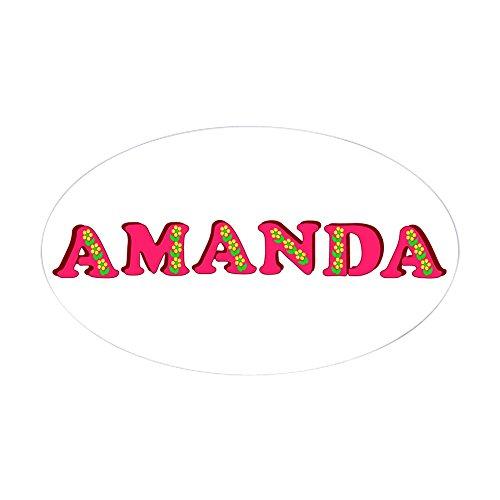 CafePress - Amanda - Oval Bumper Sticker, Euro Oval Car Decal Bumper Bib