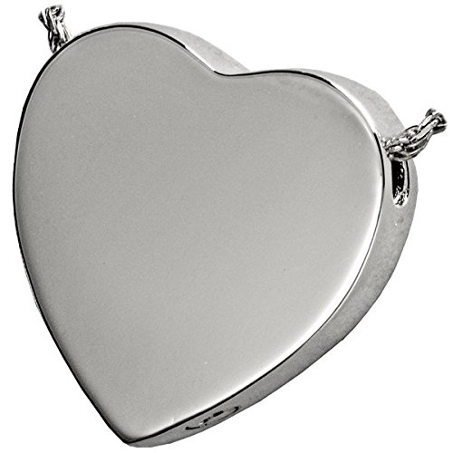 Memorial Gallery 3109s Peaceful Heart Sterling Silver Cremation Pet Jewelry
