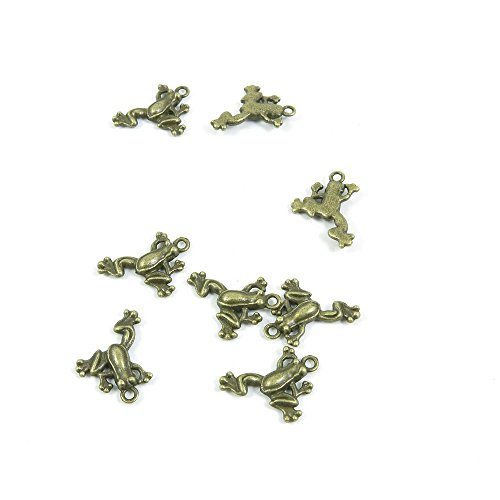 Price per 20 Pieces Fashion Jewelry Making Charms Findings Arts Crafts Beading Antique Bronze Tone P2WJ5 Frog Prince