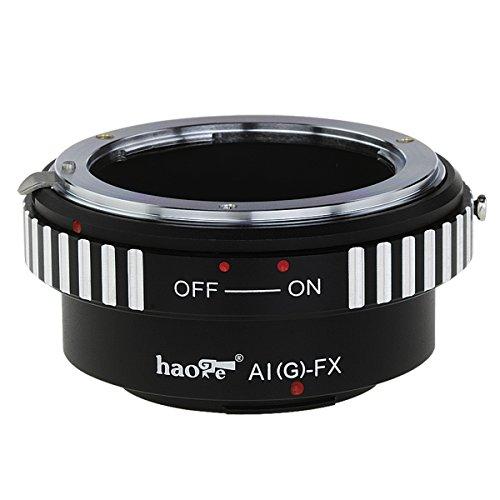 Haoge Lens Mount Adapter for Nikon Nikkor G/F/AI/AIS/D Lens to Fujifilm Fuji X FX Mount Camera as X-A1 X-A2 X-A3 X-A5 X-A10 X-A20 X-E1 X-E2 X-E2s X-E3 X-H1 X-Pro1 X-Pro2 X-T1 X-T2 X-T10 X-T20