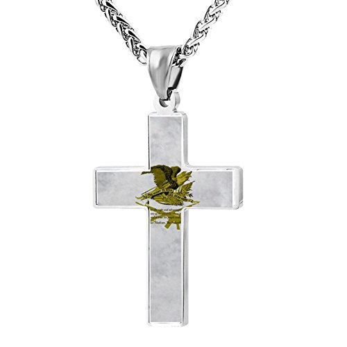 Simple Small Zinc Alloy Religious Cross Necklace For Men Women,Print (96t Cross)