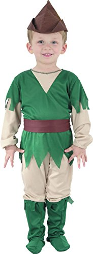 Toddler Boys Fancy Book Week Day Dress Party Peter Pan Robin Hood Costume (Book Week Costumes For Boys)