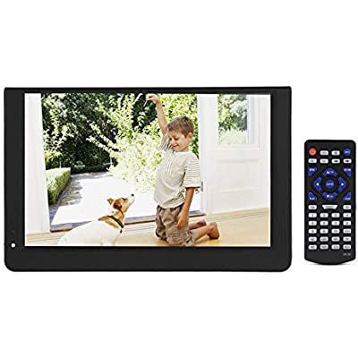 Garsent 12-inch Portable Digital TV  1080P 16 9 LED Mini Handheld DVB-T T2 Digital with 12V Car Charger Support VGA AV HDMI SD MMC USB card Television Player for Car  Camping  Outdoor  Bedroom