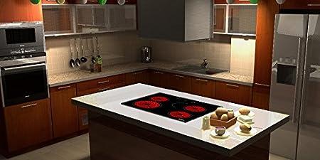 Viesta C4Z - Placa de cocina vitrocerámica, con protección contra el sobrecalentamiento, 6600W, con control táctil, placa independiente