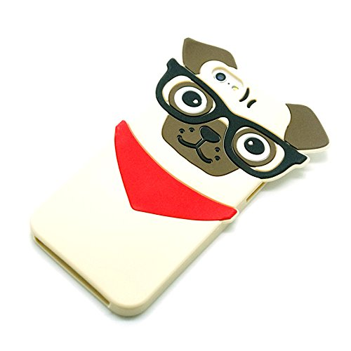 PJ.CASE Funny Cartoon 3D Animal Pug Dog Case For iPhone 6 ...