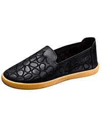 Jesper Women Thin Fur Leather Soft Comfortable Loafers Solid Embroidery Flat Walking Shoes Slip-Ons