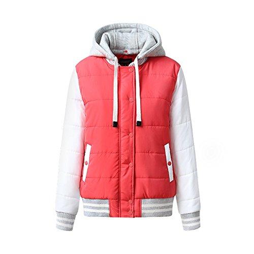 Winter baseball cotton thicking women's short coat (Color : C, Size : XXL) by LI SHI XIANG SHOP