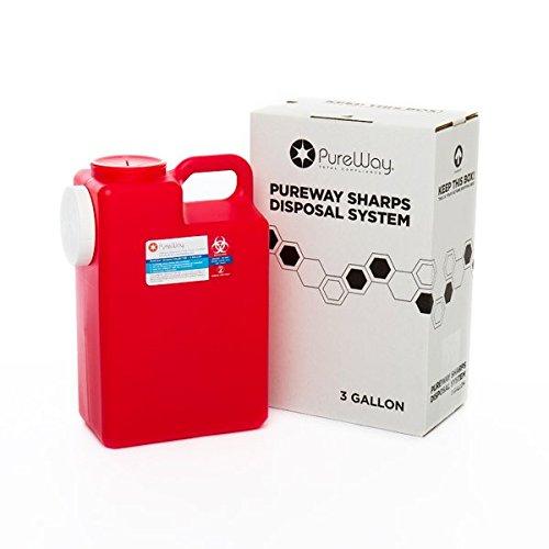 PureWay 3 Gallon PureWay Sharps Disposal System by Pureway