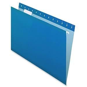 Pendaflex 415315BLU Hanging Folder, Reinforced, Blue, 1/5 Tab, Legal, 25 Per Box