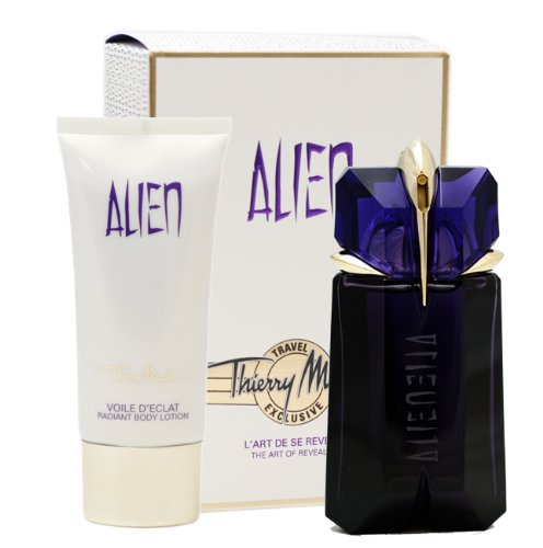 Thierry Mugler Alien 2 Piece Gift Set (Eau De Parfum Spray 2.0 Oz & Radiant Body Lotion 3.4 Oz) for Women, 2.0 fl. Oz. ALE128
