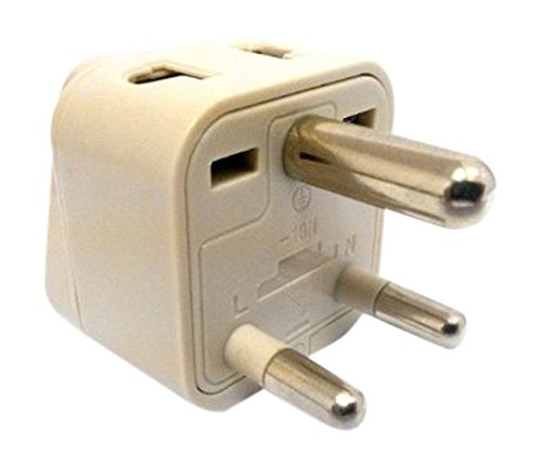 CKITZE BA-10 Grounded Universal 2 in 1 Plug Adapter Type D for India, Africa & more - CE Certified