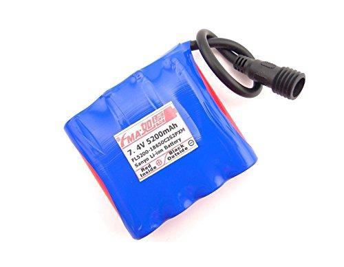 Li-Ion 7.4V 5200Ma Battery To Light Pcm Inside By 18650 2S2P Us