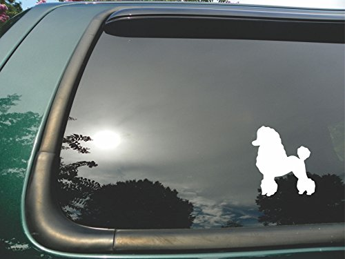 Poodle- Die Cut Vinyl Window Decal/sticker for Car/ Truck/ Laptop 4.5