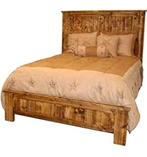 rustic westernnatural reclaimed queen size bed