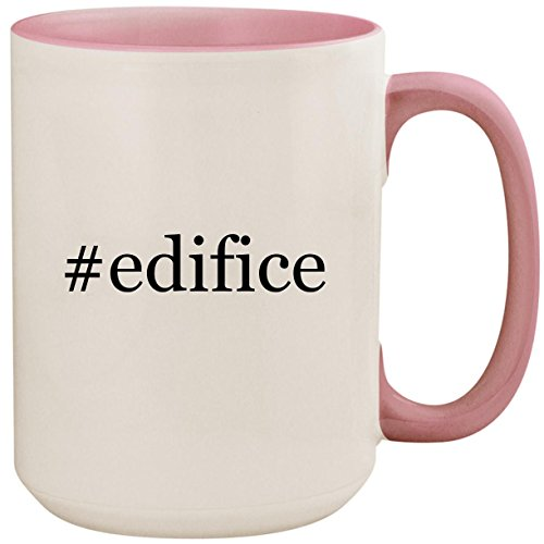 #edifice - 15oz Ceramic Colored Inside and Handle Coffee Mug Cup, Pink