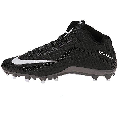 Nike Men's Alpha Pro 2 TD Sport Football Cleats, Black (Nike Mens Alpha Pro 2 Td Football Cleats)