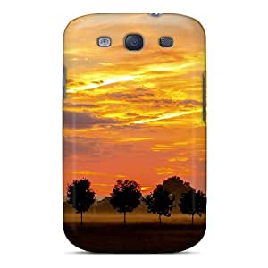 S3 Scratch-proof Protection Case Cover For Galaxy/ Hot Trees Alley At Sunset Phone Case