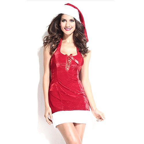 [Slocyclub Novelties Women Sweet Miss Santa Suit Halloween Costume] (Witch Coustumes)