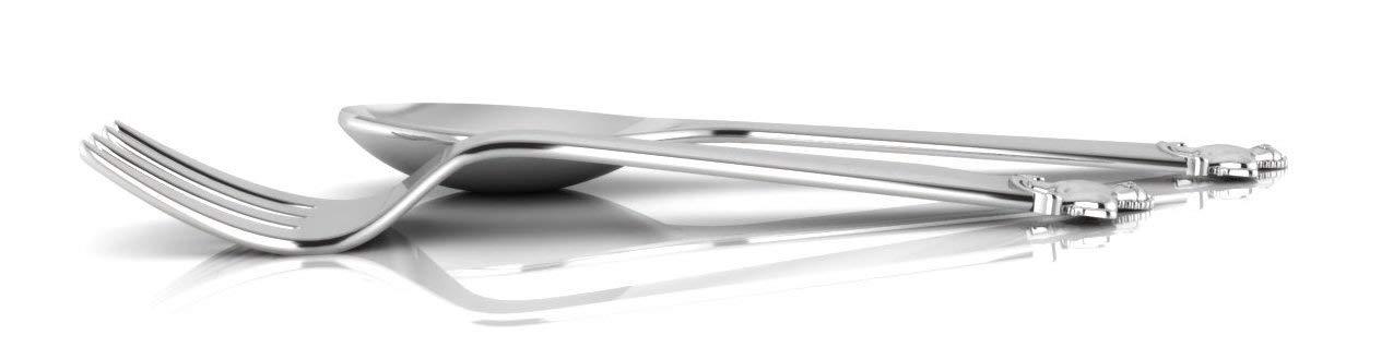 Krysaliis Horse Silver Plate Baby Spoon Fork Set