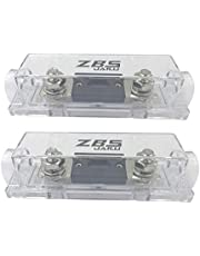 ZBSJAKU 300A Inline ANL Fuse Holder, 0/2/4/8 Gauge AWG ANL Fuse Block Holder with 300 Amp ANL Fuses for Car Audio Amplifier (2 Pack)
