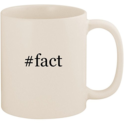 #fact - 11oz Ceramic Coffee Mug Cup, White (Three Facts About Martin Luther King Jr)