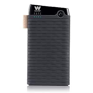 Woxter Power Bank 6000 SR - Alimentador portátil compatible con smartphones, tablets, reproductores MP3 y dispositivos USB, color negro