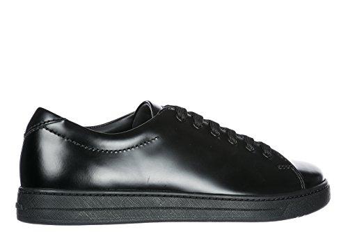 d3118ce0c98c ... Prada Herrenschuhe Herren Leder Schuhe Sneakers Schwarz ...