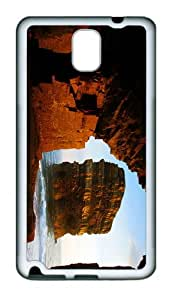 pretty case sunset shore cave TPU White case/cover for samsung galaxy note 3 N9000