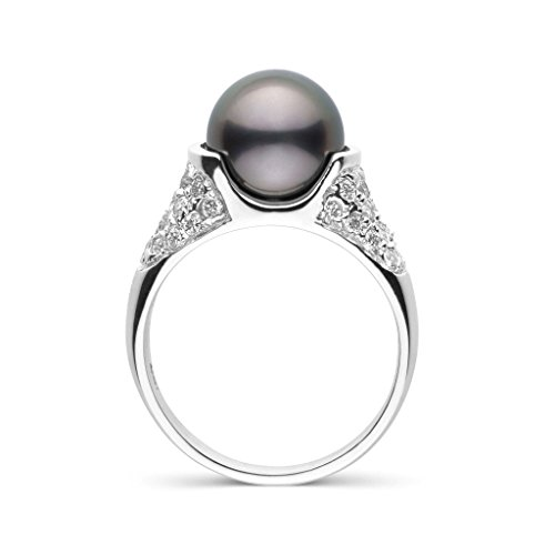 Frost Collection Tahitian Cultured Pearl and Diamond Ring - 18K White Gold - Ring Size 5.5 18k Tahitian Pearl Ring