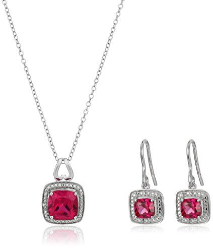 Sterling-Silver-Created-Ruby-Cushion-Cut-Pendant-Necklace-Earring-Box-Set-18