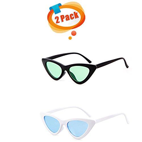 ADEWU Small Cat Eye Sunglasses Red Frame Women Brand Designer Ladies Sun glasses Vintage Sexy Eyewear Shades - Cobain Glasses Brand Kurt