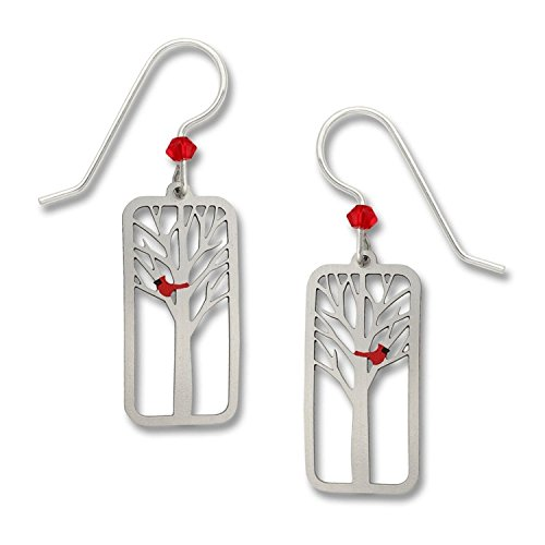 - Sienna Sky Tree with Red Cardinal Panel Earrings 1614