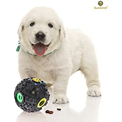 Interactive Dog Toy by SunGrow -- Dog puzzle and treat dispenser for puppies, small and medium dogs - Increases IQ, Boredom buster - Provides unlimited fun and entertainment