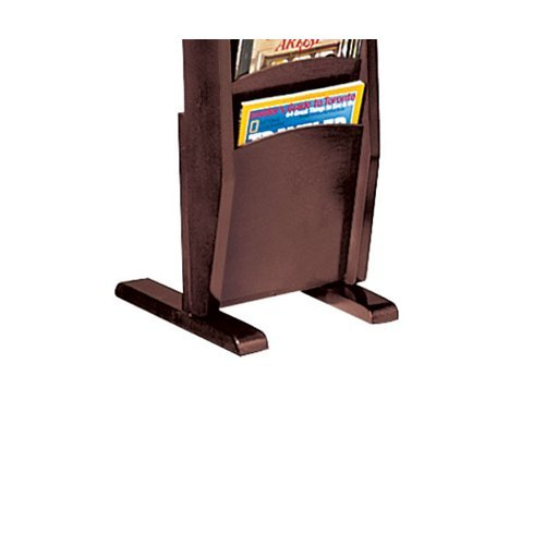 Lesro Lenox Collection 2-Leg Base for Magazine Rack, Mahogany (Series 2 Leg Magazine Base)