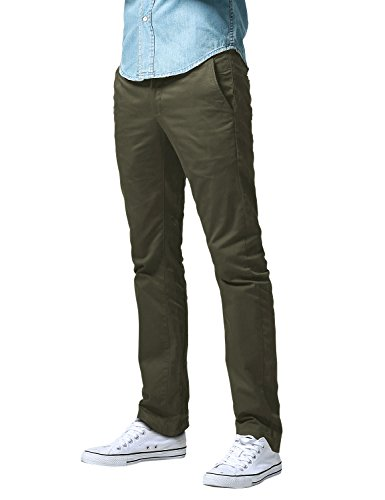 Match Men's Slim Fit Straight Leg Casual Pants (29, 8125 Army Green)