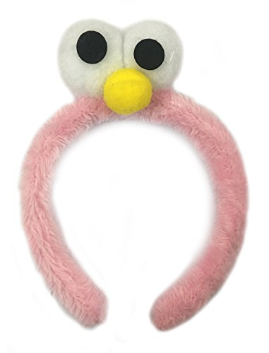 YouBella Jewellery Big Cartoon Eyes style Fur Hair Band for Kids and Girls (Light Pink)
