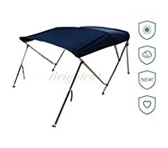 Brand: Brightent® The cover of this item is made of 600D woven polyester material with PU coating, MARINE GRADE, which is very good water-proof. And it has two aluminum rear support poles and a storage boot, free of charge! Item specification...