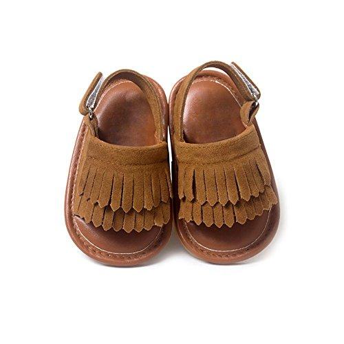 Moresave - Zapatos primeros pasos de Charol para niño marrón oscuro