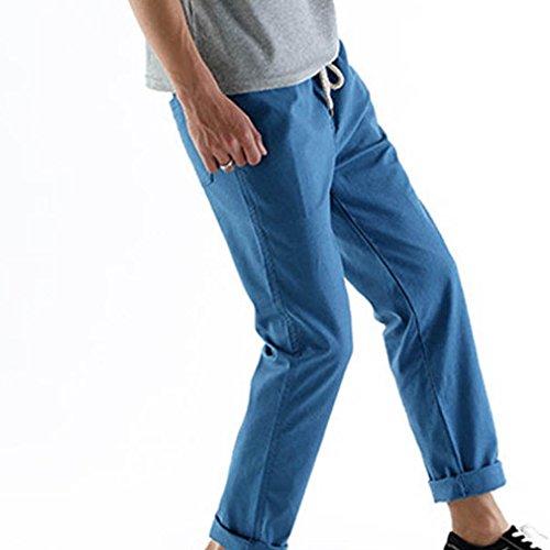 Loose Humidité Droite Pantalon Sweat Bleu Jambe Wicking Slacks Hommes Cordon Sports Trousers Cikrilan Lin Outdoor Z078SRq