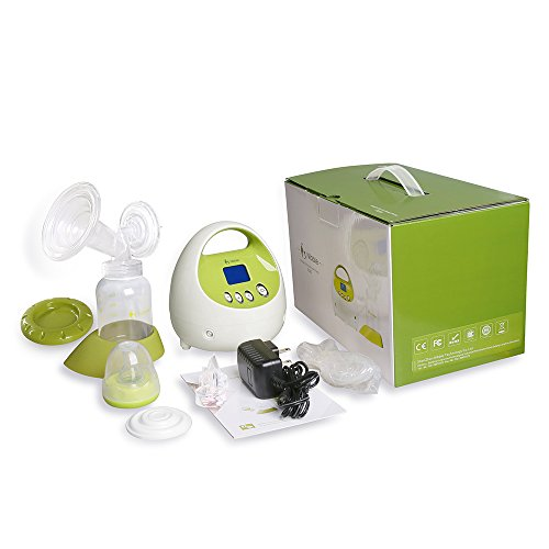 Nibble Comfort Electric Single Breast Pump with Rechargeable Battery – 10 Levels Suction Power Adjustable BPA-Free