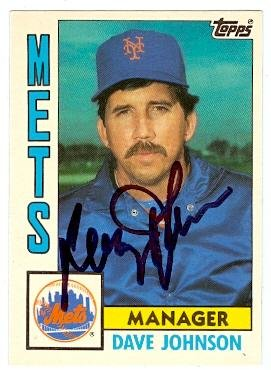 Davey Johnson autographed baseball card (New York Mets) 1984 Topps No.57T