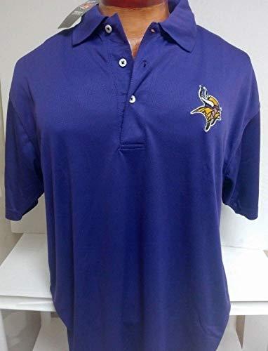 (Minnesota Vikings NFL Mens Purple Performance Polo)