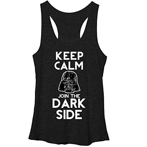 Star Wars Keep Calm Young Womens L Graphic Racerback Tank - Fifth Sun