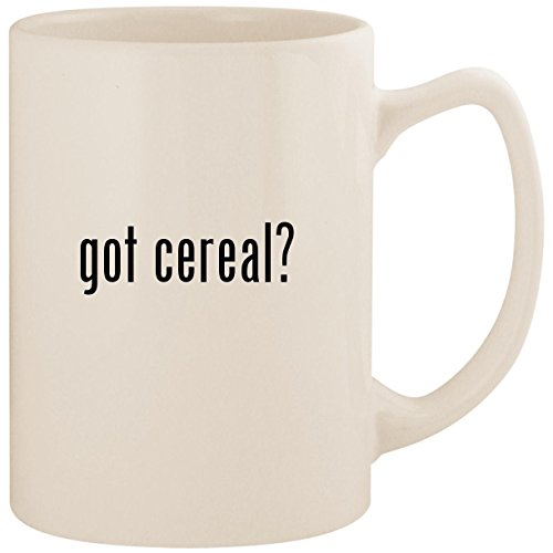 got cereal? - White 14oz Ceramic Statesman Coffee Mug Cup