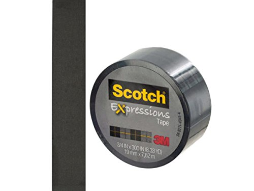 Scotch Expressions Black Tape - Pack of 48