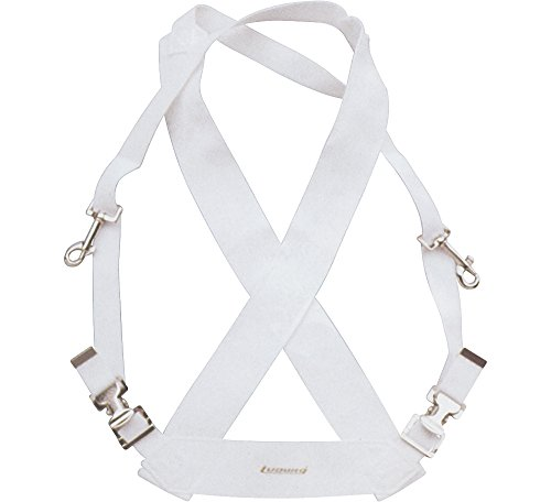 Bass Drum Straps - Ludwig LF350W White Parade Marching Bass Drum Sling