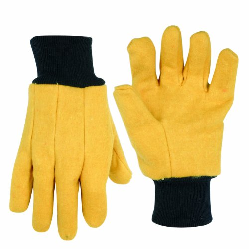 Leather Chore Glove (Custom Leathercraft 2022 Chore Gloves, Yellow Flannel)