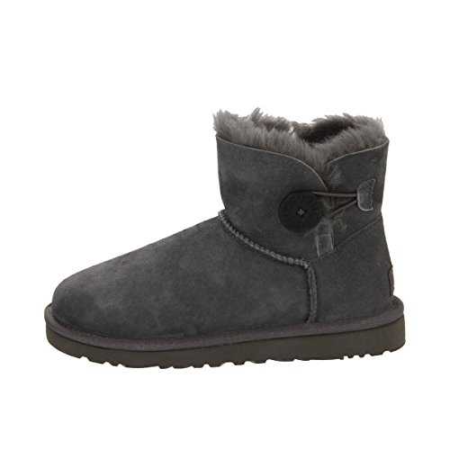 Used, UGG Australia Mini Bailey Button Boots 3352 (11, Grey) for sale  Delivered anywhere in USA