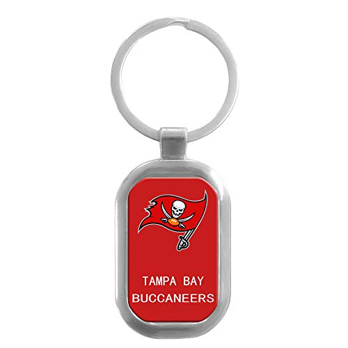 CHNNFC NFL Premium Domed Stainless Steel Keychain (Tampa Bay Buccaneers)